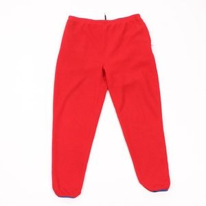 90s Gap Streetwear Mens XL Fleece Jogger Pants Red
